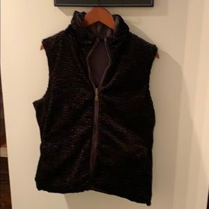 Neyelle reversible brown vest with pockets size M